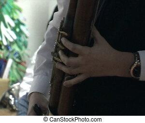 Man playing the bassoon