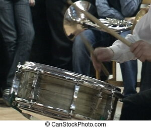 Man playing the drum