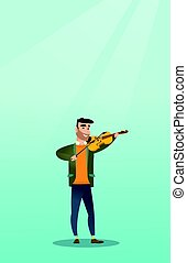 Man playing the violin vector illustration.