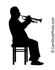 Man playing trumpet - Illustration of a man playing trumpet....