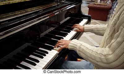 Man Plays Piano Showing Hands Only 2
