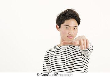 Man pointing at you
