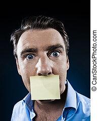 Man Portrait adhesive note