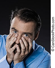Man Portrait Despair Beg