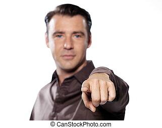 Man Portrait pointing