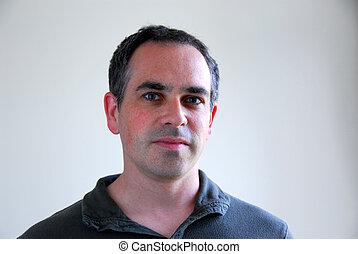 Man portrait - Portrait of a man on gray background