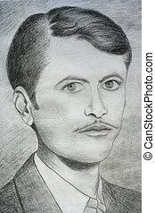 Man portrait sketch