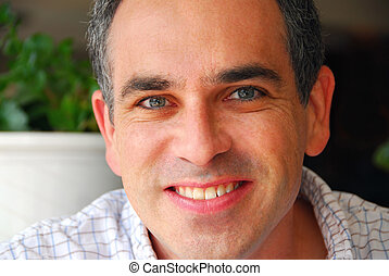 Man portrait - Portrait of a man in a cafe