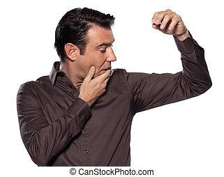 Man Portrait sweat perspiring
