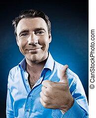 Man Portrait Thumb up