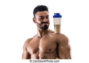 Man posing with shaker