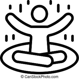 Man practice yoga icon, outline style