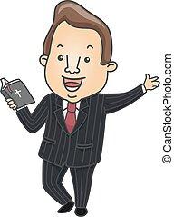 Man Preacher Bible Illustration - Illustration of a Preacher...