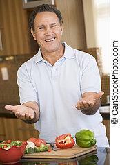 Man Preparing meal,mealtime