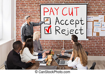 Paycut Rejection Concept