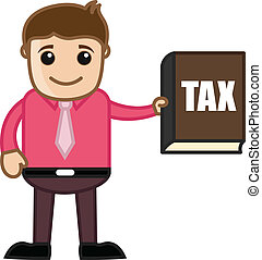 Man Presenting Tax Book Vector