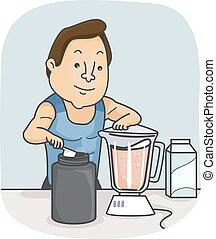 Man Protein Shake Blender