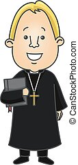 Man Protestant Priest Bible
