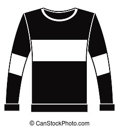 Man pullover in black simple silhouette style icons vector illustration for design and web