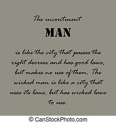 man..., quotes., aristotle, incontinent