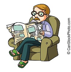 Man Read NewsPaper