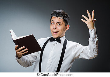 Man reading the books