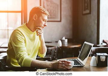 Man reading the latest news