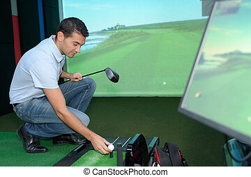 man ready to play video-game