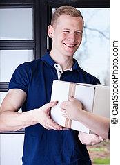 Man receiving a package