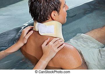 Man Receiving Back Massage