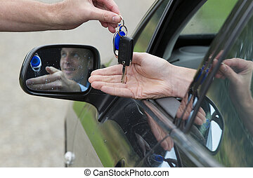 Man Receiving Car Key.