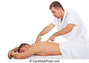 Man receiving Shiatsu massage