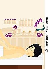 Man recieving massage.