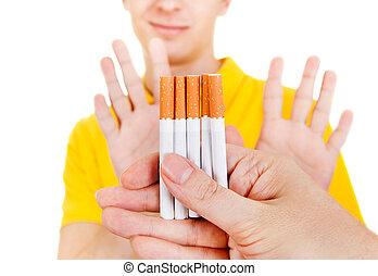 Man refuse a Cigarettes