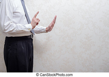 Man Refusing a Bribe for Corruption - Uncorrupted man...