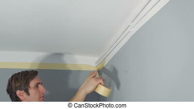 man renovating his new home