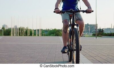 man riding a bicycle