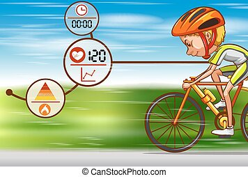 Man riding bicycle on the road