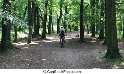 Man riding in the park