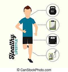 man runner athletic healthy lifestyle