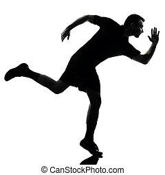 man runner running silhouette