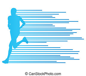 Man runner silhouette vector background template concept...