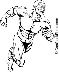 Man running - An illustration of an athletic muscular man...