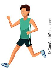 man running athlete