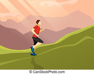 Man Running Flat Icon