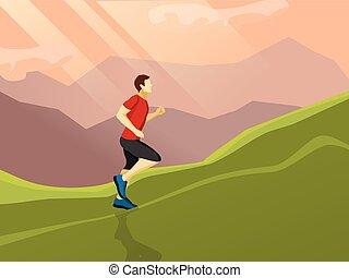 Man Running Flat Icon