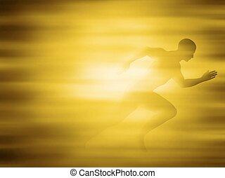 Man running for gold