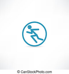 Man running in circle
