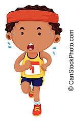 Man running in race