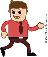 Man Running - Office Character